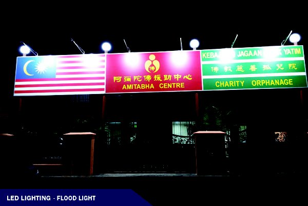 LED LIGHTING@ADVERTISE SIGNBOARD FLOOD LIGHT