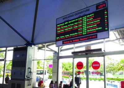 PANORAMA BUS DEPARTURE DISPLAY @ MELAKA SENTRAL