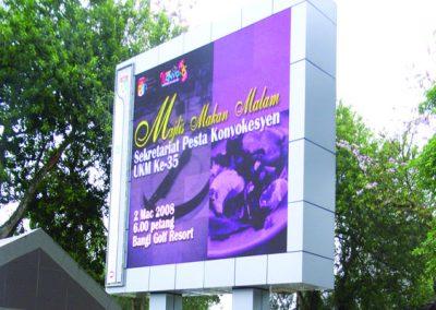 FULL COLOUR DISPLAY BOARD @ UNIVERSITY KEBANGSAAN MALAYSIA (UKM)